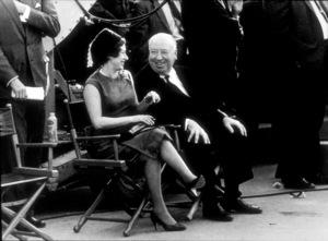 """Torn Curtain,""Princess Margaret & Alfred Hitchcockon the set.1966 Universal - Image 8418_0002"