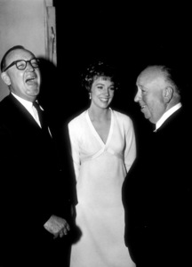 """""""Torn Curtain,""""Julie Andrews with DirectorAlfred Hithchcock.1966 Universal.  - Image 8418_0006"""