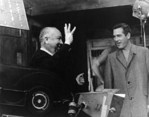 """""""Torn Curtain""""Director Alfred Hitchcock with Paul Newman1966 UniversalMPTV - Image 8418_0016"""