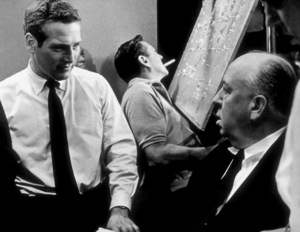 """Torn Curtain,""Paul Newman & Director Alfred Hitchcock, on the set.1966 Universal - Image 8418_0019"