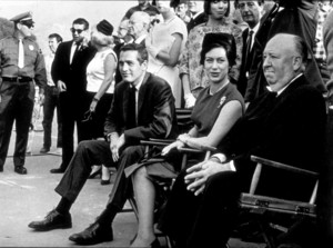 """""""Torn Curtain,""""Paul Newman, Princess Margaret,& Alfred Hitchcock, on the set.1966 Universal - Image 8418_0023"""