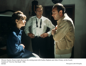 """Two For The Road""Audrey Hepburn, Albert Finney and director StanleyDonen,1966 / 20th Century Fox © 1978 Bob Willoughby - Image 8451_0113"