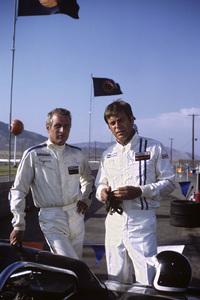 """Winning"" Paul Newman and Robert Wagner on location at Riverside Raceway in Riverside, California1968 © 1978 David Sutton - Image 8541_0067"