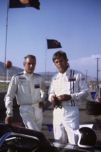 """Winning"" Paul Newman and Robert Wagner on location at Riverside Raceway in Riverside, California1968 © 1978 David Sutton - Image 8541_0067"