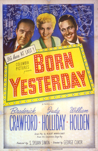 """Born Yesterday""Poster1950 Columbia**I.V. - Image 8697_0005"