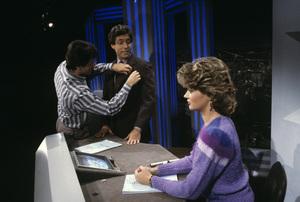"""Entertainment Tonight""Mary Hart, Robb Wellercirca 1988© 1988 Gene Trindl - Image 8731_0033"