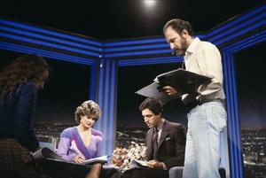 """Entertainment Tonight""Mary Hart, Robb Wellercirca 1988© 1988 Gene Trindl - Image 8731_0034"
