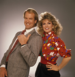 """Entertainment Tonight""Mary Hart, John Teshcirca 1989© 1989 Mario Casilli - Image 8731_0038"