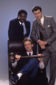 """Night Court""Harry Anderson, Charles Robinson, John Larroquette1984© 1984 Mario Casilli - Image 8734_0005"