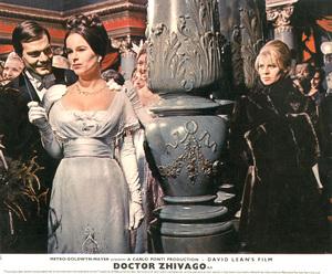 """Doctor Zhivago"" (lobby card)Omar Sharif, Geraldine Chaplin, Julie Christie1965 MGM  - Image 8849_0001"