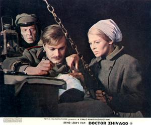 """Doctor Zhivago"" (lobby card)Omar Sharif, Julie Christie1965 MGM  - Image 8849_0004"