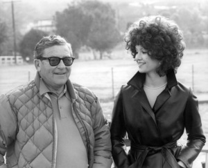 """Director Mark Robson and Victoria Principal in """"Earthquake""""1974 Universal** B.D.M. - Image 8867_0011"""