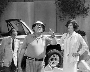 "Charlton Heston, director Mark Robson and Ava Gardner on the set of ""Earthquake""1974 Universal** B.D.M. - Image 8867_0012"
