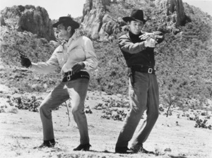 """""""Five Card Stud,""""Dean Martin and Robert Mitchum.1968 Paramount - Image 8905_0010"""