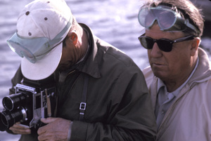 """""""The Greatest Story Ever Told""""Director George Stevens and still photographer Floyd McCarty on location at Pyramid Lake, Nevada1963Photo by Eliot Elisofon - Image 8951_0027"""