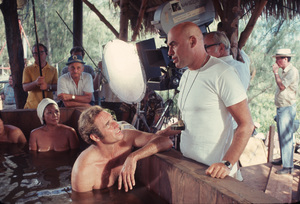 """""""The Hawaiins"""" Charlton Heston and director Tom Gries1970 UA Photo by Al St. Hilaire - Image 8960_0004"""