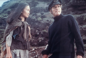 """The Hawaiins"" Charlton Heston, Tina Chen1970 UAPhoto by Al St. Hilaire - Image 8960_0009"