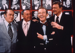 John Wayne with Bob Hope, Frank Sinatra, and Bing Crosby, circa 1970. © 1978 David Sutton - Image 898_32