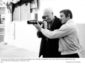 """The Buccaneer"" Yul Brynner with Peter Martin 1958 Paramount © 1978 Bob Willoughby - Image 9011_0013"