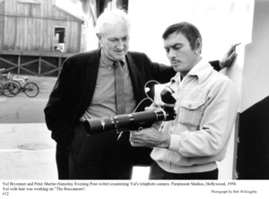 """""""The Buccaneer"""" Yul Brynner with Peter Martinon the set, 1958 Paramount © 1978 Bob Willoughby - Image 9011_0014"""