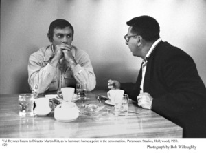 """""""The Buccaneer"""" Yul Brynner and Director Martin Ritt, 1958 Paramount © 1978 Bob Willoughby - Image 9011_0020"""