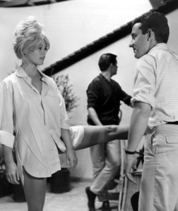 """""""A Very Private Affair"""" Brigitte Bardot with Director Louis Malle, 1961 MGM **I.V. - Image 9013_0012"""