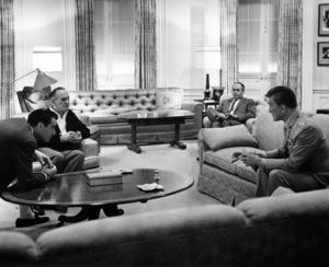 """Seven Days in May""Director John Frankenheimer, Fredric March, Martin Balsam, Kirk Douglas1964 Paramount Pictures - Image 9027_0003"