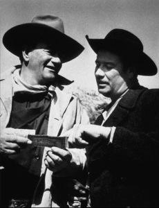 """The Sons of Katie Elder,"" Paramount 1965.John Wayne and Pancho Villa"