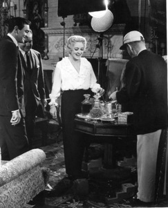 """""""Where Love Has Gone,"""" 1964.Mike Connors and Bette Davis behind the scenes.Photo by Bud Fraker - Image 9037_0002"""