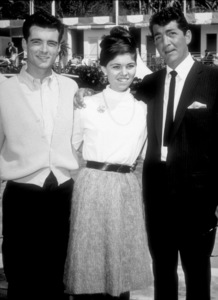 """""""Whose Been Sleeping In My Bed,""""Dean Martin on location with daughter Claudia and friend.1963 Paramount - Image 9038_0006"""