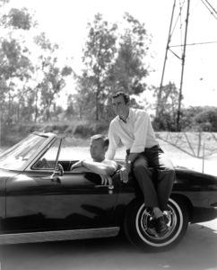 """""""Route 66""""Martin Milner, Glenn Corbett with a 1963 Corvette1963 CBSPhoto By Gabi Rona - Image 9108_1"""