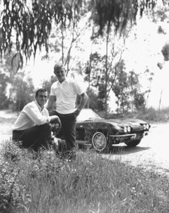 """Route 66""Glenn Corbett,Martin Millner with a 1963 Corvette1963 CBSPhoto By Gabi Rona - Image 9108_4"