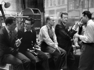 """Funny Face"" Richard Avedon, Fred Astaire, Roger Eden, director Stanley Donen © 1978 Lou Jacobs Jr. - Image 9111_0366"