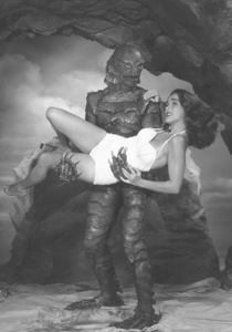 """""""Creature From the Black Lagoon""""Ricou Browning, Julie Adams1954 United International - Image 9132_3"""