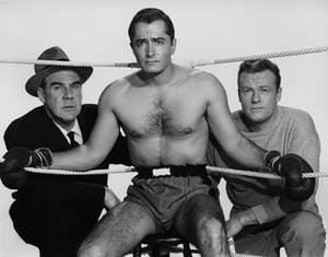 """The Leather Saint""Paul Douglas, John Derek, Richard Shannon1956 Paramount - Image 9134_0008"