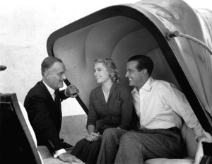 """John Williams, Grace Kelly, Ray Millandbehind the scenes of """"Dial M For Murder,"""" 1954.0046912 - Image 9138_0013"""