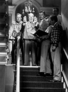 """Dial M For Murder,""Alfred Hitchcock on the set.1954 Warner Bros. © 1978 Sanford Roth/AMPAS - Image 9138_0037"
