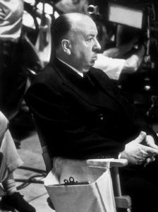 """Dial M For Murder,""Director Alfred Hitchcock on the set.1954 Warner Bros. © 1978 Sanford Roth/AMPAS - Image 9138_0039"