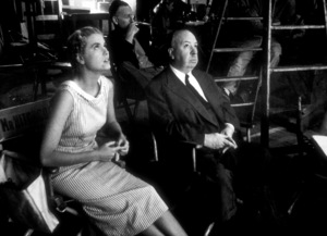 """""""Dial M For Murder,""""Grace Kelly and Alfred Hitchcockon the set.1954 Warner Bros. © 1978 Sanford Roth - Image 9138_0040"""