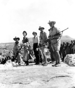 Philip Stainton, Ava Gardner, Grace Kelly, Donald Sinden, Clark Gable.  Mogambo (1953)0046085 - Image 9140_0004