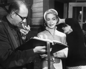 """Living It Up""Janet Leigh rehearses her lines with dialogue director Rudy Makoul1954 York Pictures - Image 9154_0035"