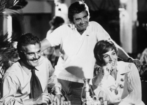 """The Tamarind Seed"" Omar Sharif, director Blake Edwards, Julie Andrews 1974 Lorimar © 1978 John Jay - Image 9174_0005"