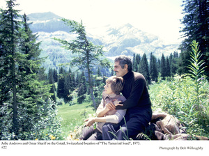 """""""Tamarind Seed, The""""Julie Andrews and Omar Sharif on theGstad, Switzerland film location, 1973. © 1978 Bob Willoughby - Image 9174_0015"""