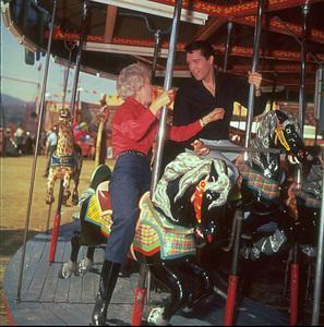 """Roustabout""Elvis Presley and Barbara Stanwyck1964 © 1978 Bud Fraker - Image 9176_0001"