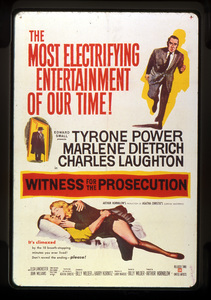 """Witness for the Prosecution""Poster1957 United Artists**I.V. - Image 9178_0003"