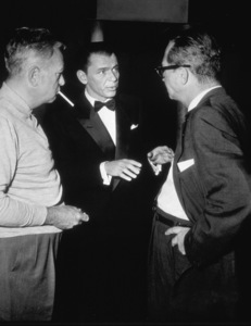 """""""The Joker Is Wild""""Frank Sinatra with producer Samuel Briskin and Director Charles Vidor.  1957 Paramount. - Image 9191_0003"""
