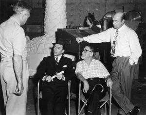 """The Joker Is Wild"" Frank Sinatra, Swifty Morgan, director Charles Vidor, Jackie Coogan 1957 Paramount - Image 9191_0005"