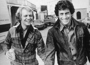 """Starsky and Hutch""David Soul & Paul Michael Glaser at Warner Bros. set1977 © 1978 Ulvis Alberts - Image 9220_0259"