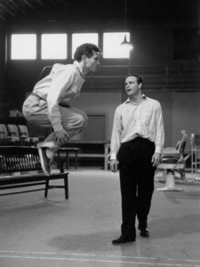 """Guys and Dolls""Marlon Brando rehearses with choreographer Michael Kidd1955 © 1978 Bob Willoughby - Image 9244_0066"