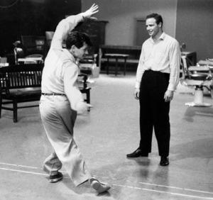 """Guys and Dolls""Marlon Brando rehearses with choreographer Michael Kidd1955 © 1978 Bob Willoughby - Image 9244_0067"